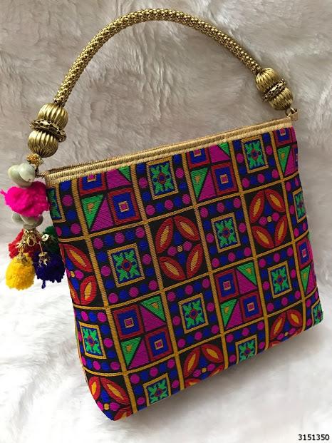 Stylish Colorful Pattern Handbag