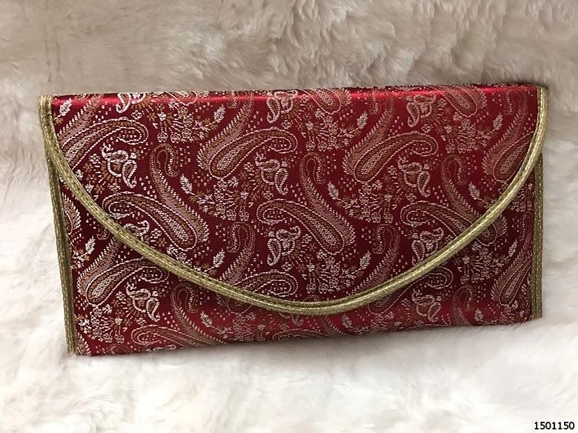 Fancy Brocade Ladies Clutch Bag