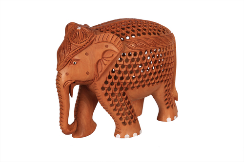 Antique Elephant Jali Special Wood 6''