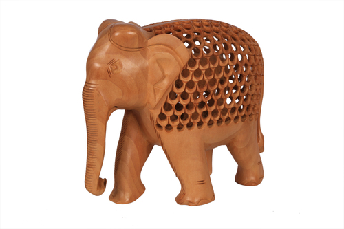 Antique Chalu Elephant Jali Special Wood 6''