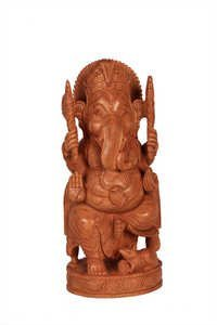 Unique Wooden Specail Goal Ganesh 10