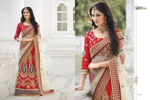 Bridal Wear Fancy Saree