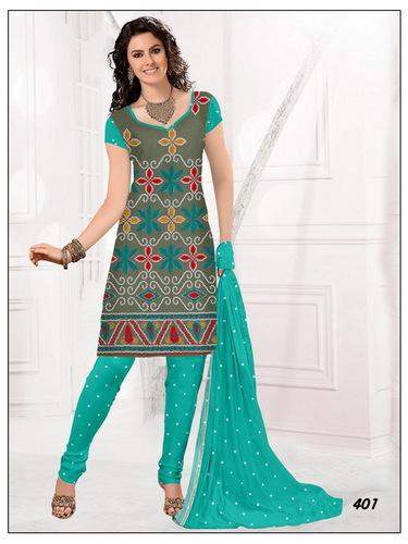 Satin Work Dress Material