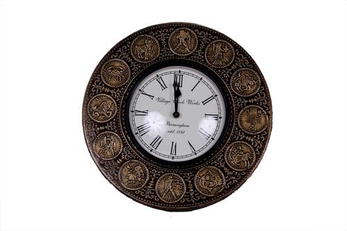Antique Round Brass Wall Clock 12*12