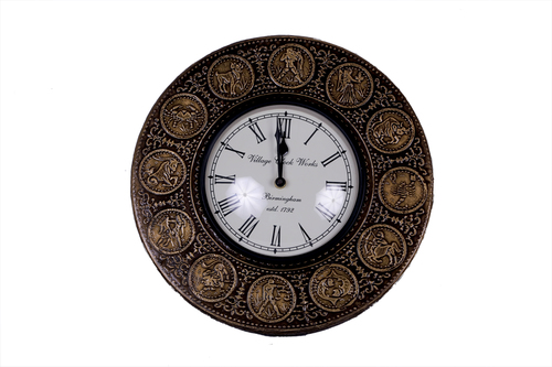 Antique Round Brass Wall Watch 12*12