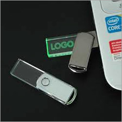 Crystal Swivel Pen Drive