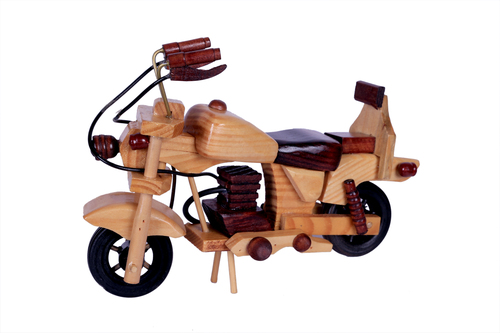 Antique Motercycle Wooden Art 7