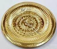 Brass Om Plate