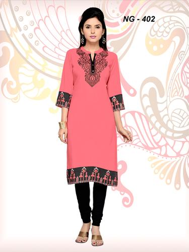 Pink Ethnic Kurtis
