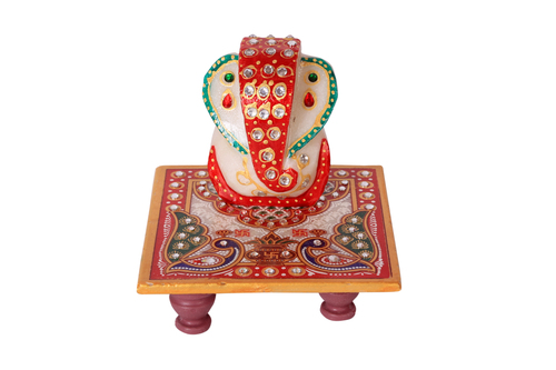 Antique Marble Choki Ganesh 4*4