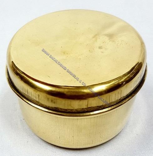 Brass Round Dabba