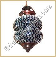 Hanging Mosaic Glass Lamp