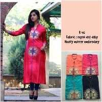 Embroidered Printed Kurti