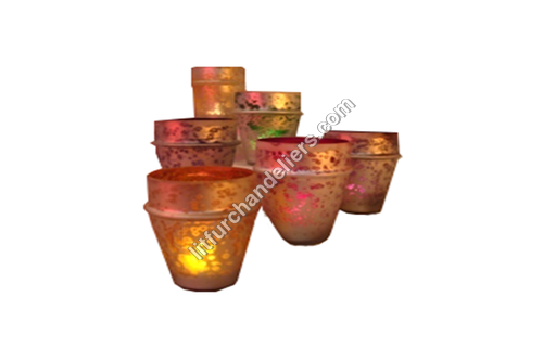 Decorative Glass Candle Votive