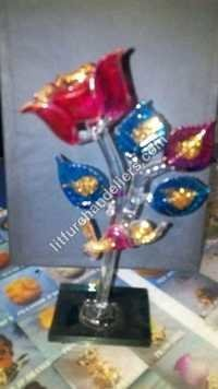 crystal Flower Showpiece