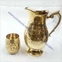 Brass Jug & Glass Set