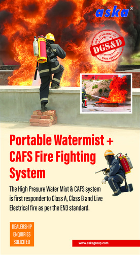 Water Mist Backpack Fire Extinguisher
