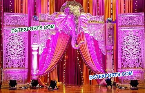 Wedding Flower Carved Backdrop Panels