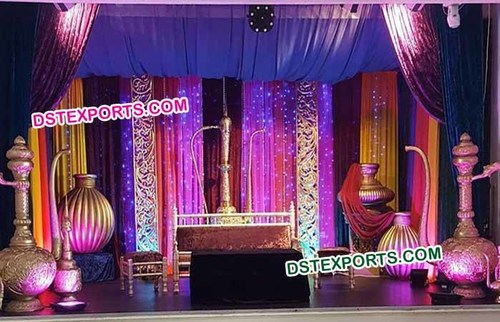 Pakistani Nikah Wedding Stage Decorations