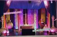Pakistani Nikah Wedding Stage Decorations