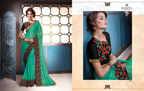 Fancy Embroidery Work Saree