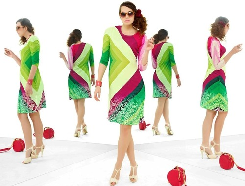 Party Wear Designer Stretchable Kurti