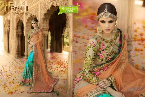 Pure Georgette Embroidery Work Saree