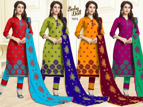 NEHA IMPEX (BABY DOLL) Straight Salwar Kameez Wholesale