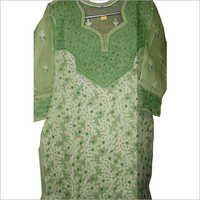 Light Green Chikan Dress