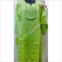 Green Embroidery Chikan Kurti