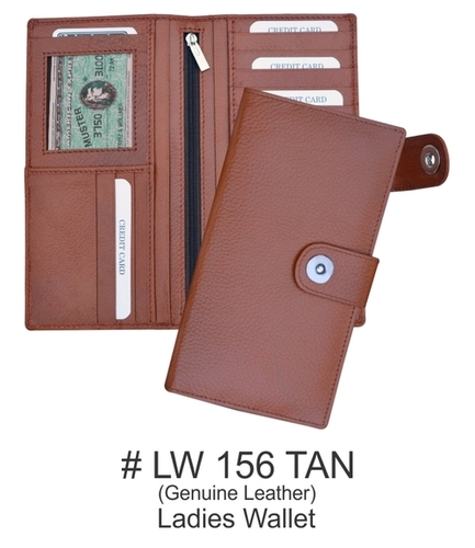 Leather Ladies Wallet in TAN