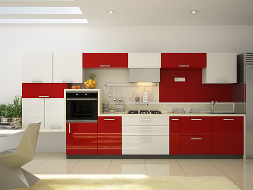 Lacquer Modular Kitchen