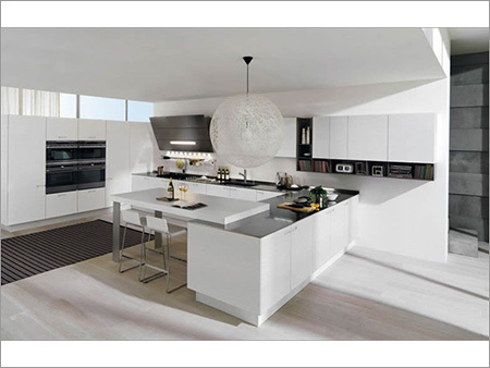Lacquered Modular Kitchen