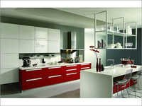 Lacquered Modular Kitchen