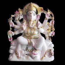 Marble 8 Hands Ganpati Ji Moorti