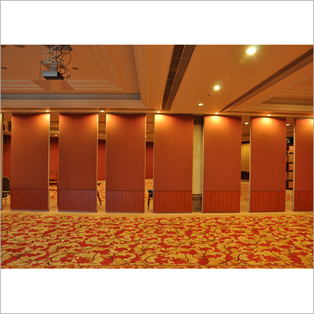 Wood Finished Wall Partition
