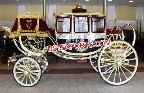 England Type Covered Horse Drawn Carriage Buggy