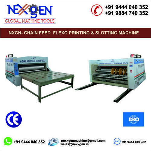 CHAIN FEED FLEXO PRINTING AND SLOTTING MACHINE