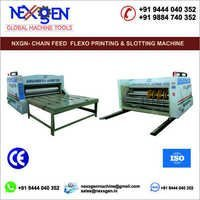 Chain Feed Flexo Printing And Slotting Machine