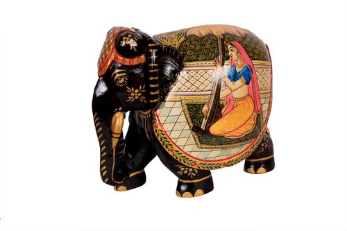 Elephant Painted Wooden Art 6