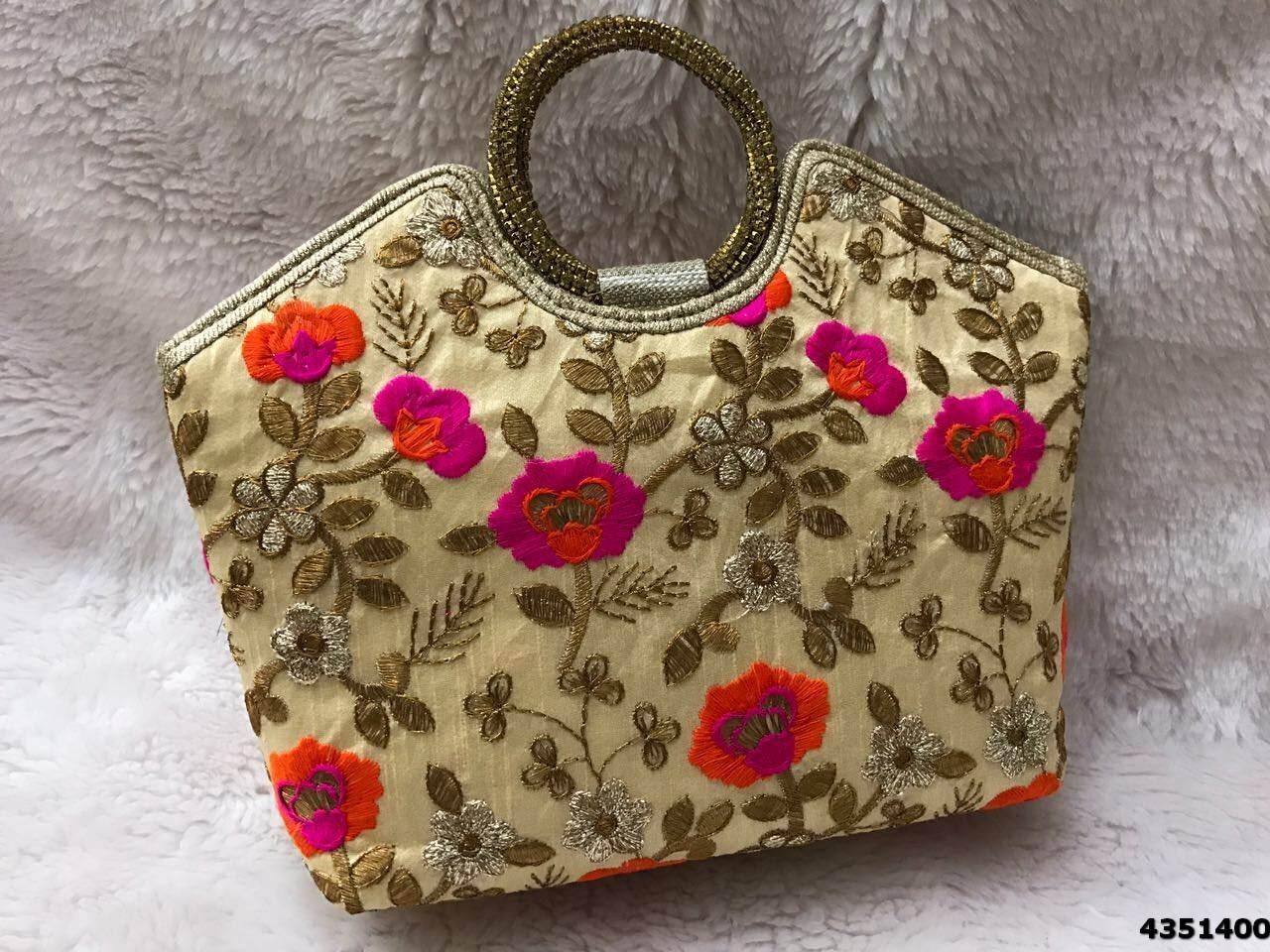New Brocade Floral Design Handbags