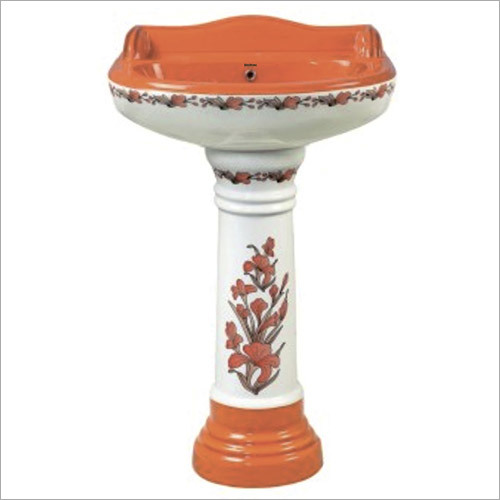 Royal Printed Pedestal Wash Basin