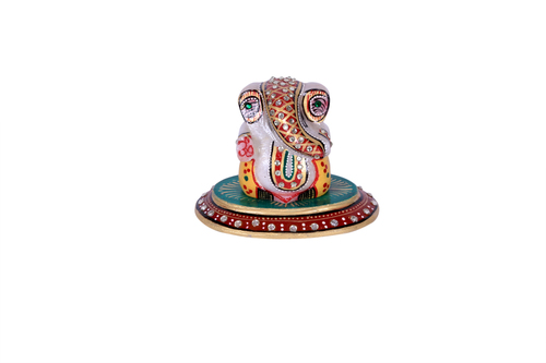 ANTIQUE  MARBLE OVAL GANESH 3*4