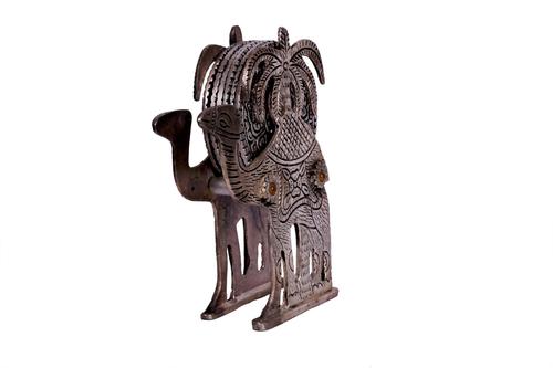 Antique Black Metal Camel Tea Coaster
