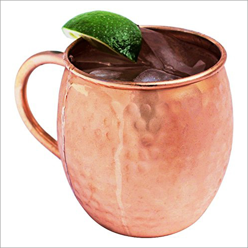Copper C Handle Mug