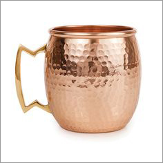 Copper Mug Hammered With Nickel