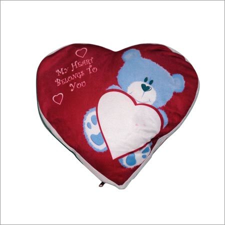 Sublimation heart shaped cushion