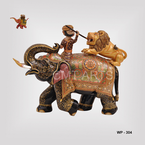 Wooden Special Painted Elephant
