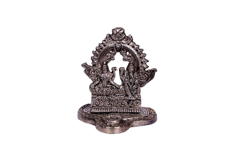 ANTIQUE BLACK METAL HANGING LAXMI-GANESH