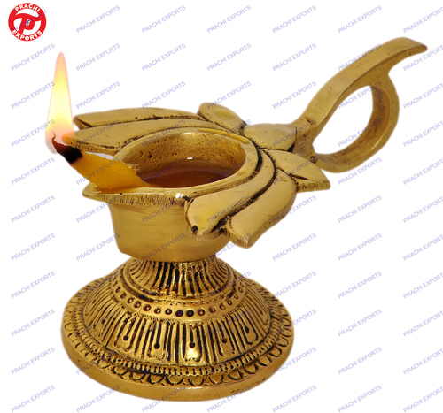 Oil Lamp Lotus Flower Design